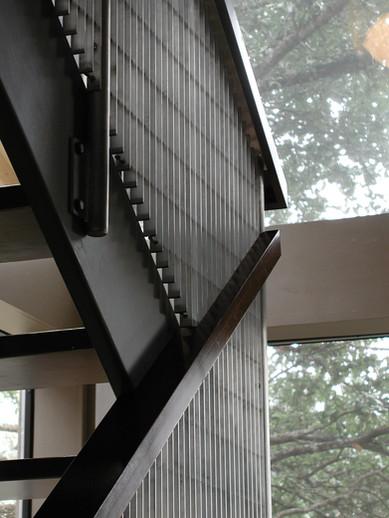 New Aluminum & Cherry Stair Rail