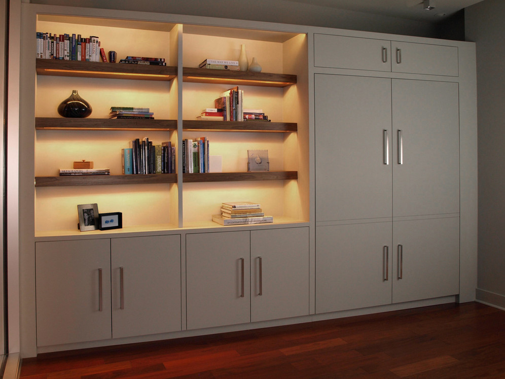 Angled Shelf w/Murphy Bed