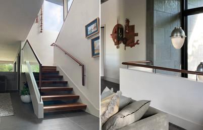 Open Stairs & Custom Handrail