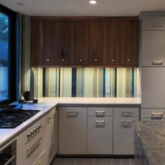 Handpainted Glass Backsplash & Walls