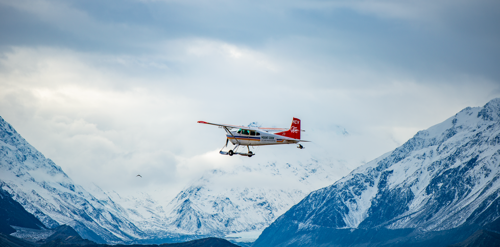 Mt Cook Plane taking off