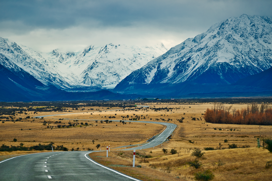 On the way to Mt Cook Airport