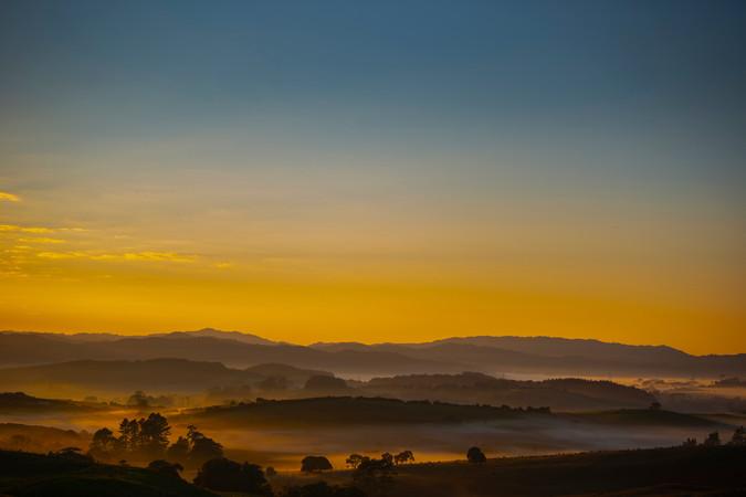 Early morning at farmlands