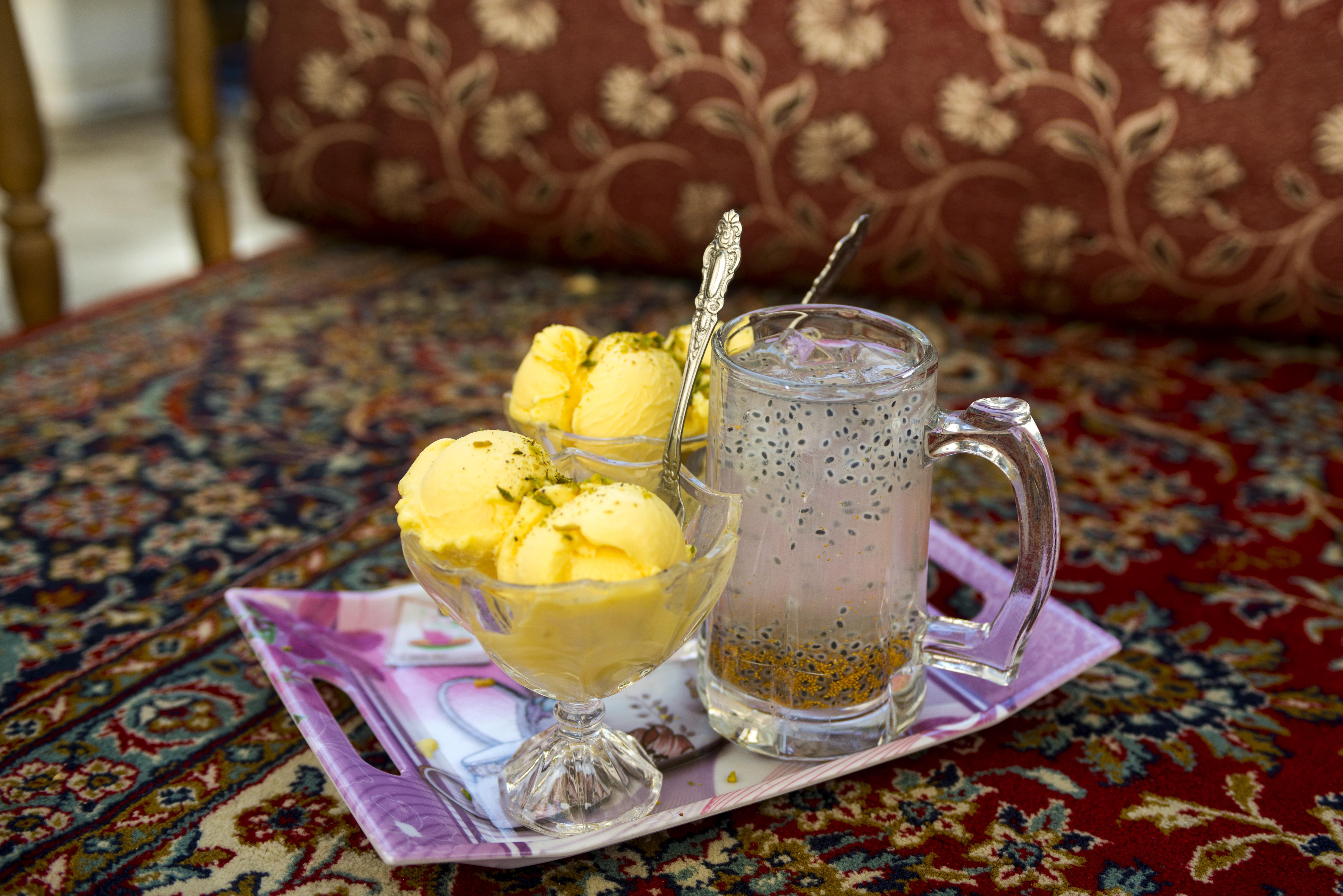 Saffron Ice cream, Chia Drink