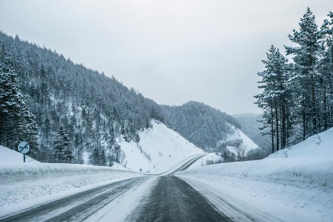 Winter drive between cites