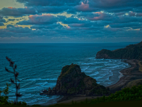 Piha Beach at Night, West Auckland
