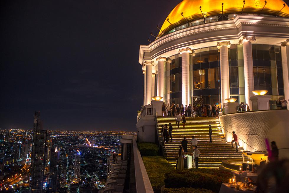 Lebua Rooftop Bar at Night