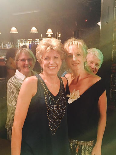 Erin Livingston and Trish Sisson...two classy cabaret dames photo bombed by their moms!