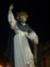 The processional statue of St Dominic by Alfred Camilleri Cauchi.