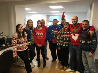 Lewis Builders Christmas Jumper Day 2017