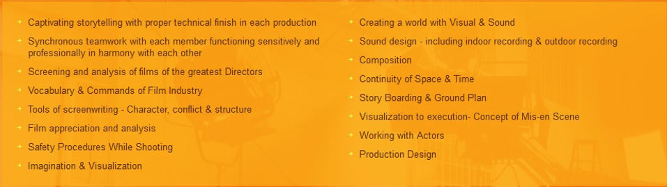 principles of film making