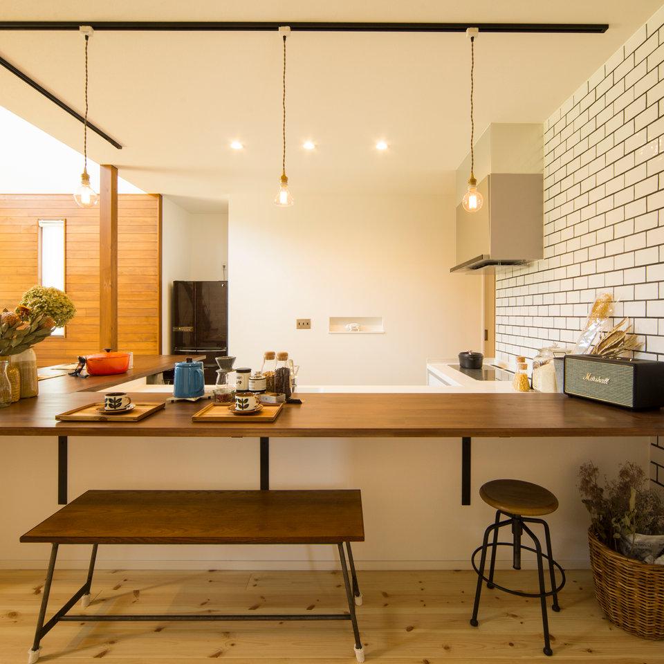 カフェのようなキッチンは特別な空間。