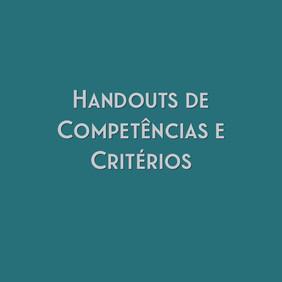 Handouts das Competências e dos Critérios Avaliativos da Redação