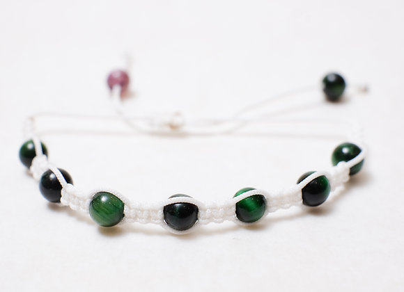 Stone Green Bracelet-White