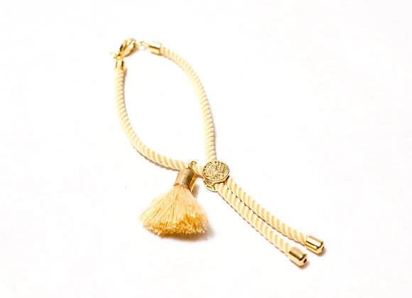Yellow Tassel with Clasp