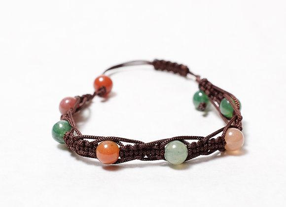 Multi-Colored Brown Bracelet