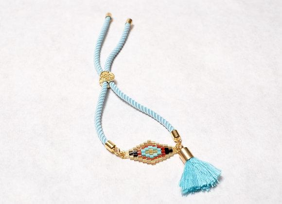 Light Blue Diamond Tassel Bracelet