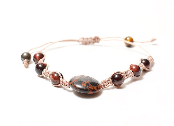 Large Brown Marble Bracelet