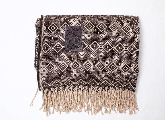 Peruvian Blanket - Brown Beige Rain