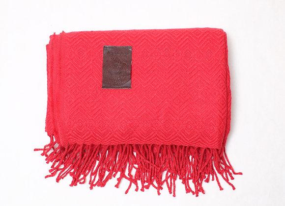 Peruvian Blanket -Small Solid Red Diamond