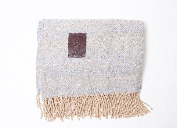 Peruvian Blanket - Grey Tan Rain