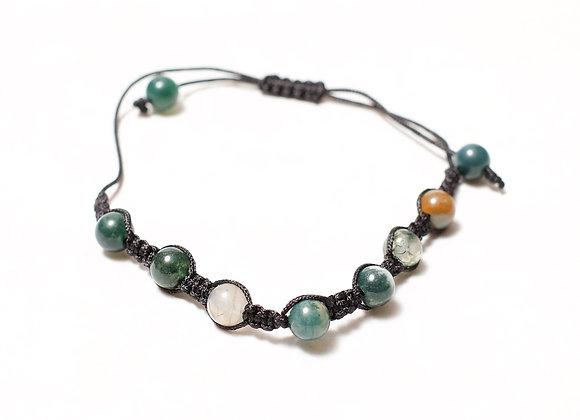 Clear Green Multi-Colored Bracelet