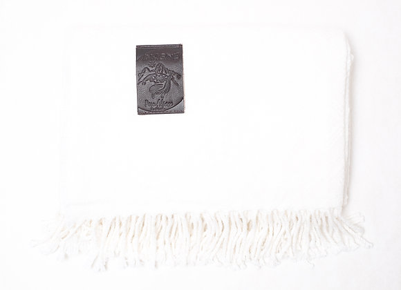 Peruvian Blanket - Solid White Diamond