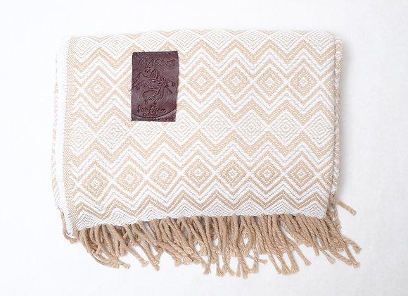 Peruvian Blanket - Lt. Brown Diamond