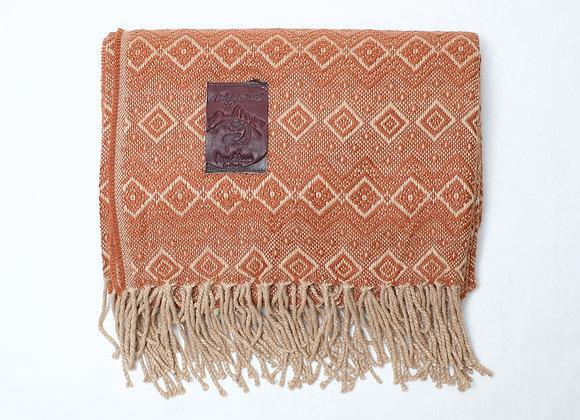 Peruvian Blanket - Rust Rain