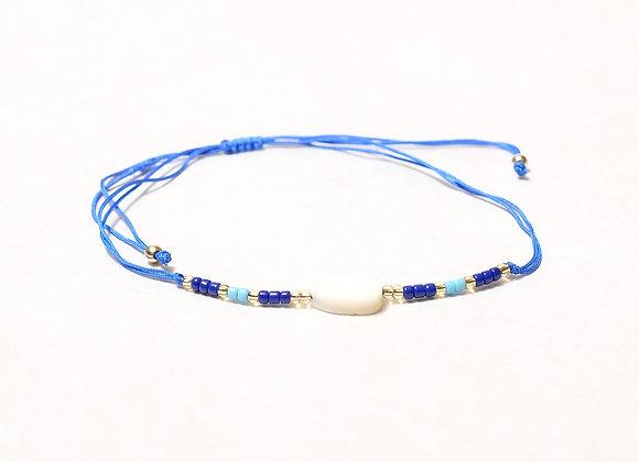 Dark Blue String Leaf Bracelet