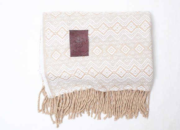 Peruvian Blanket - Lt. Brown Rain