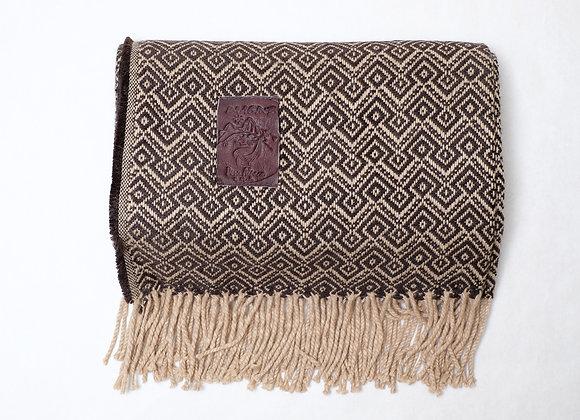 Peruvian Blanket - Brown Beige Andean