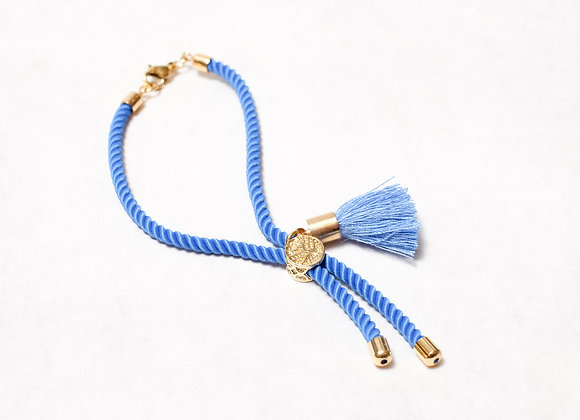 Blue Rope Tassel with Clasp
