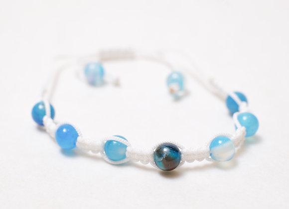 Clear Blue Stone Bracelet-White