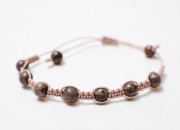 Chocolate Brown Stone Bracelet