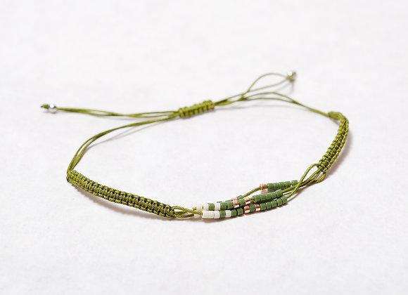 Dark Green Beaded Bracelet