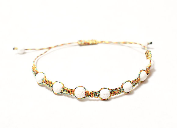 Yellow Rainbow Beaded Bracelet