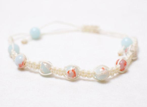 Ocean Blue Stone Bracelet-White