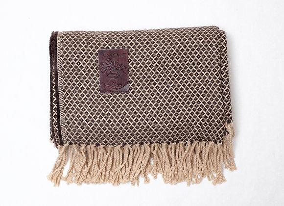 Peruvian Blanket - Brown Beige Small Square