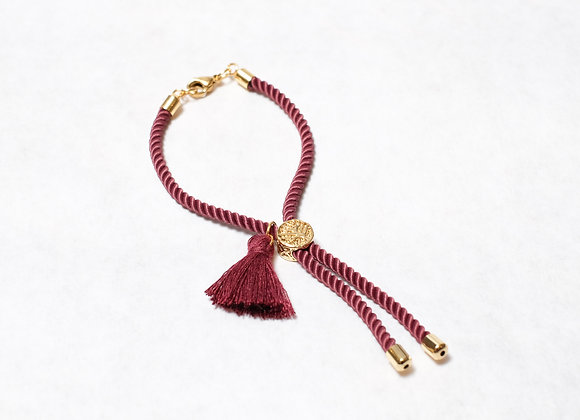 Maroon Tassel with Clasp