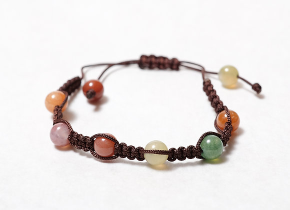 Clear Multi-Colored Brown Bracelet