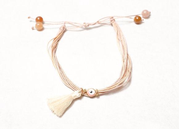 Brown Tiger Eye Tassel Bracelet