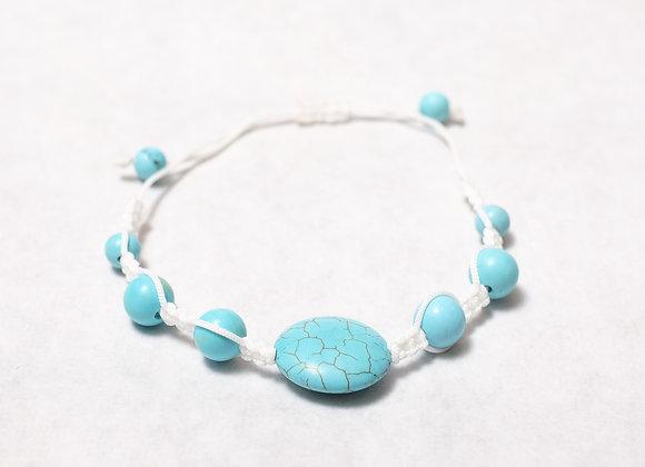 Large Turquoise White Bracelet