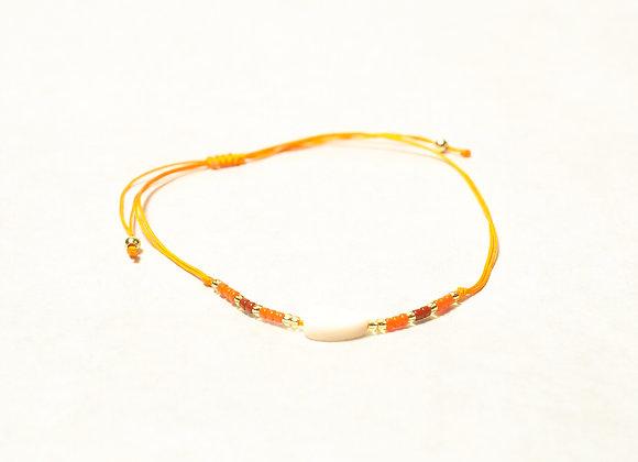 Sunshine Orange String Leaf Bracelet