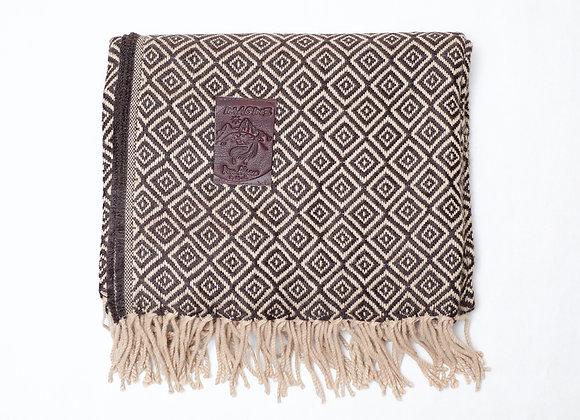 Peruvian Blanket - Brown Beige Small 3Diamond