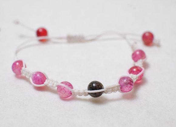 Stone Rose Bracelet-White