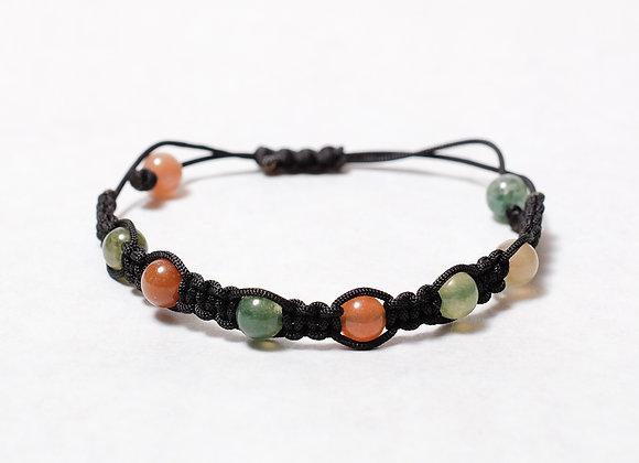 Clear Multi-Colored Black Bracelet