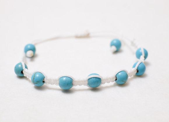 Stone Sky Blue Bracelet-White