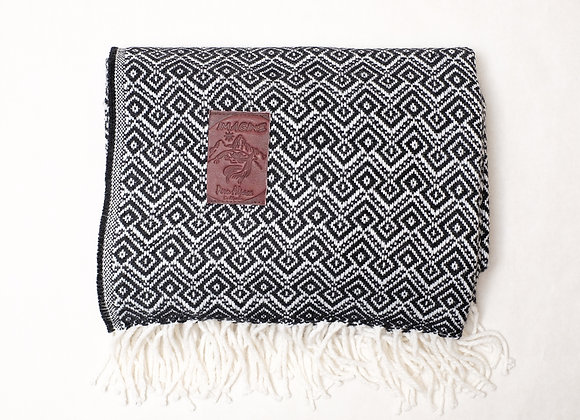 Peruvian Blanket - Black and White Andean