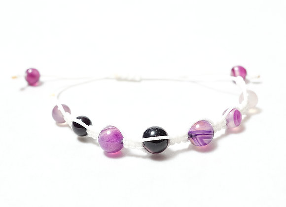 Purple Stone Bracelet -White